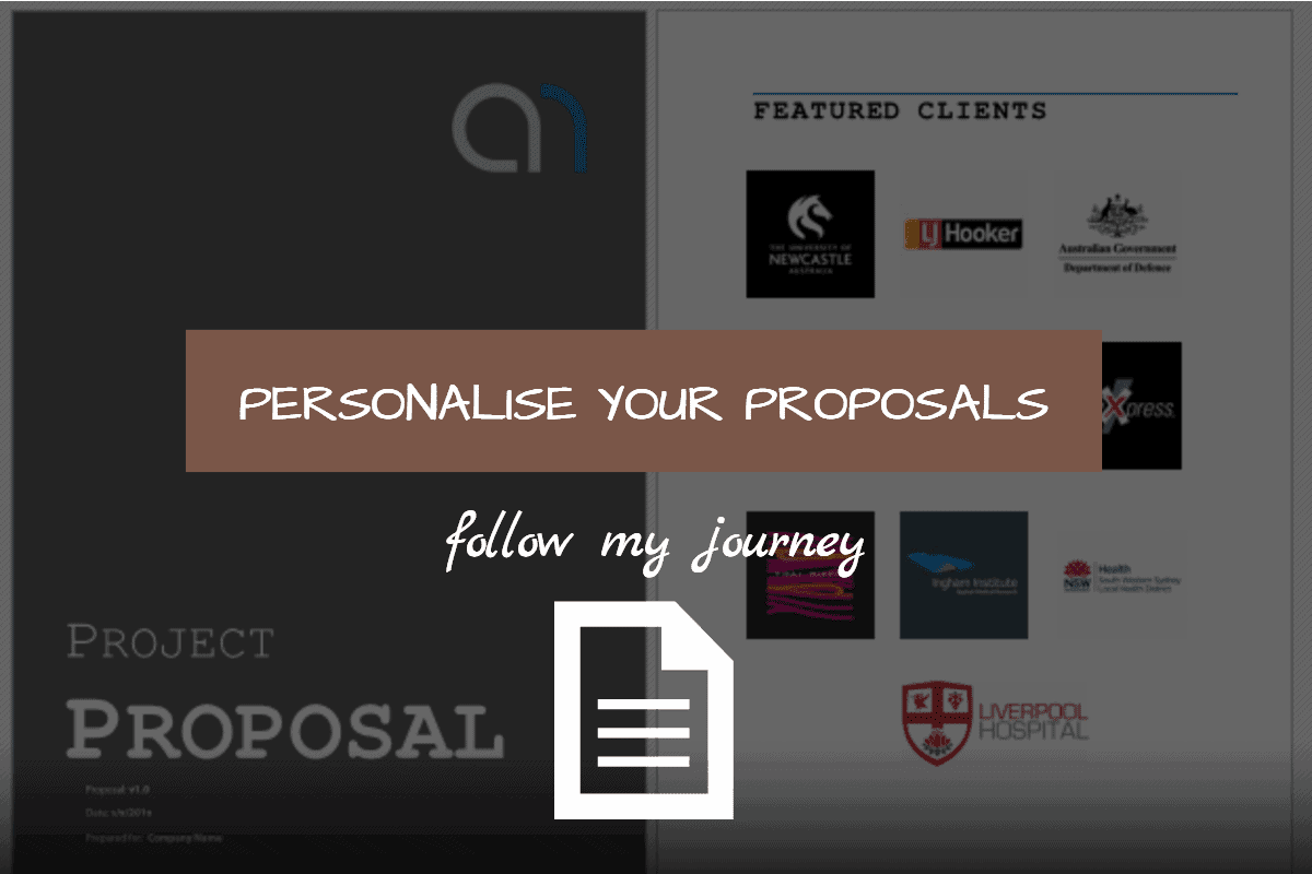 Personalise your proposals 1