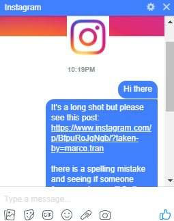 HOW TO REPORT A SPELLING MISTAKE TO INSTAGRAM - IS IT GOING TO GET