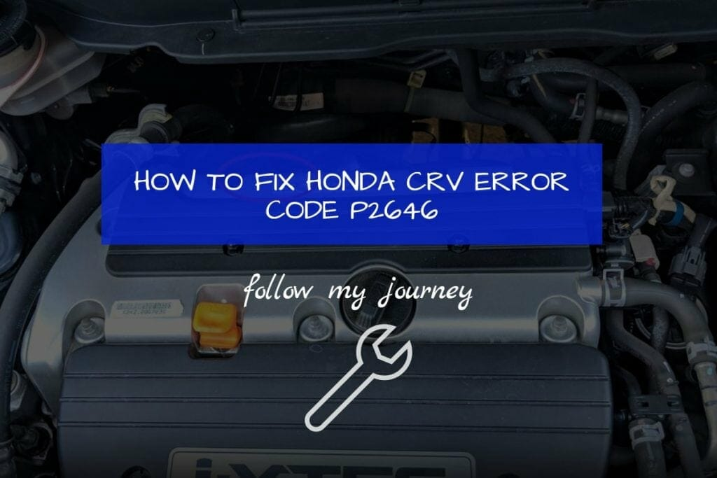 HOW TO FIX HONDA CRV ERROR CODE P2646