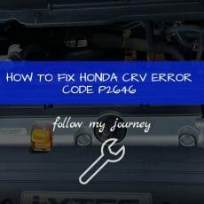 HOW TO FIX HONDA CRV ERROR CODE P2646