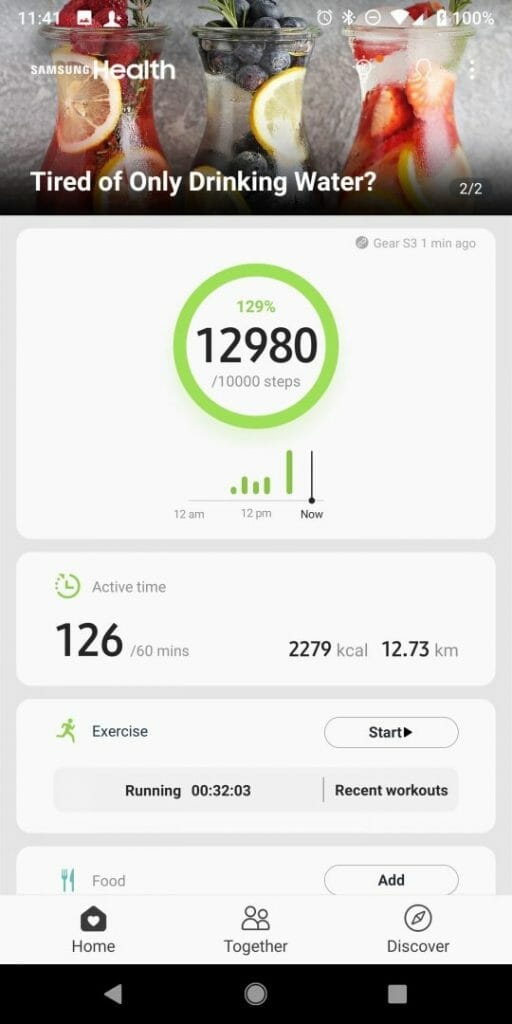 Synching Samsung Health to Strava
