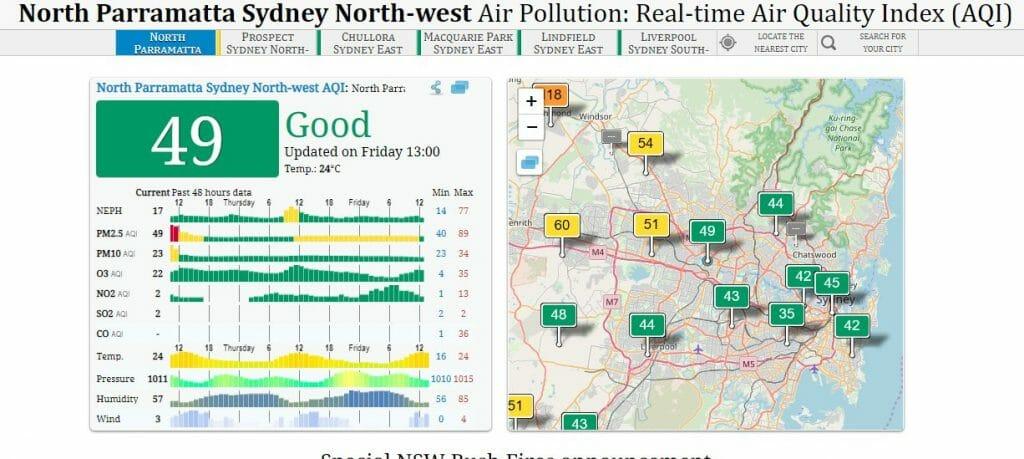 Marco Tran - Air Quality Index North parramatta Friday