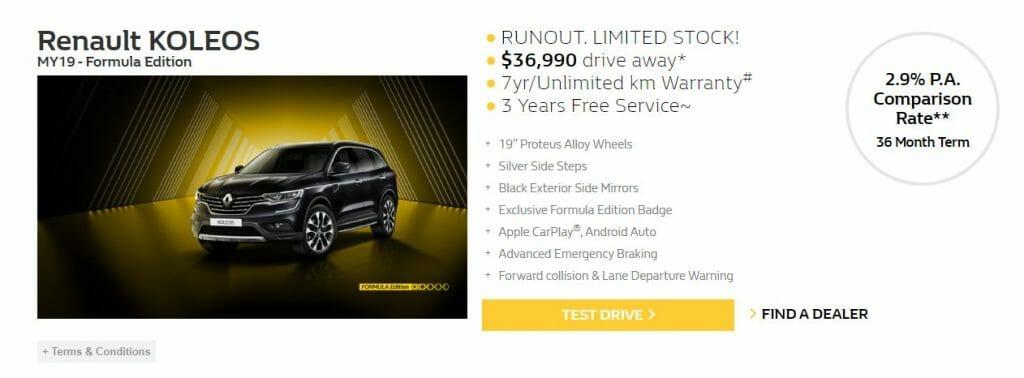 Marco Tran - Renault KOLEOS Formula Edition Pricing