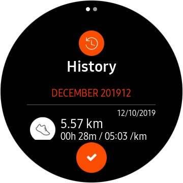 Marco Tran - Samsung Gear S3 Strava App History