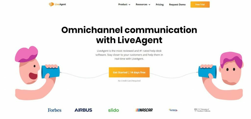 Marco Tran The Simple Entrepreneur Customer Support Ticket System LiveAgent homepage