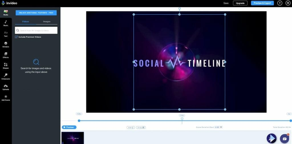 Marco Tran The Simple Entrepreneur inVideo dashboard template edit social timeline