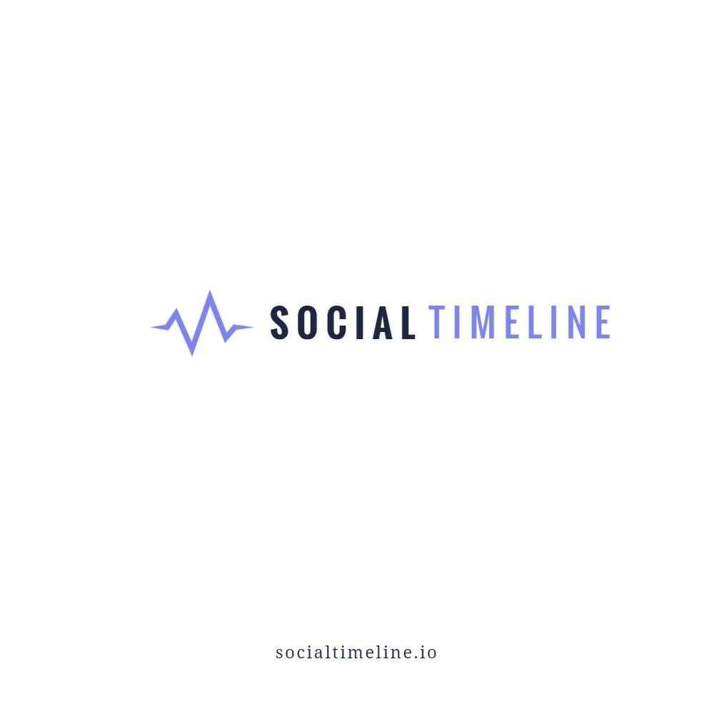 Social Timeline Logo Mockup 1