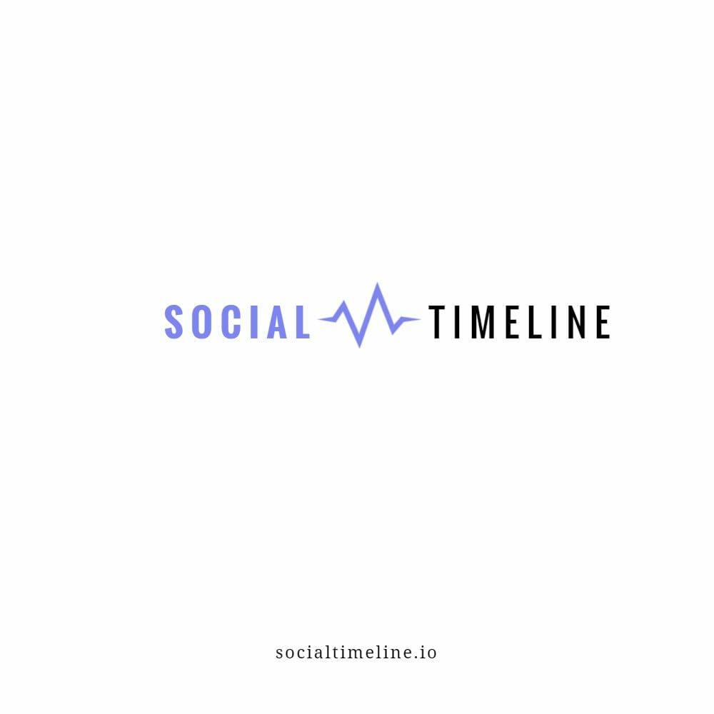 Social Timeline Logo Mockup 2