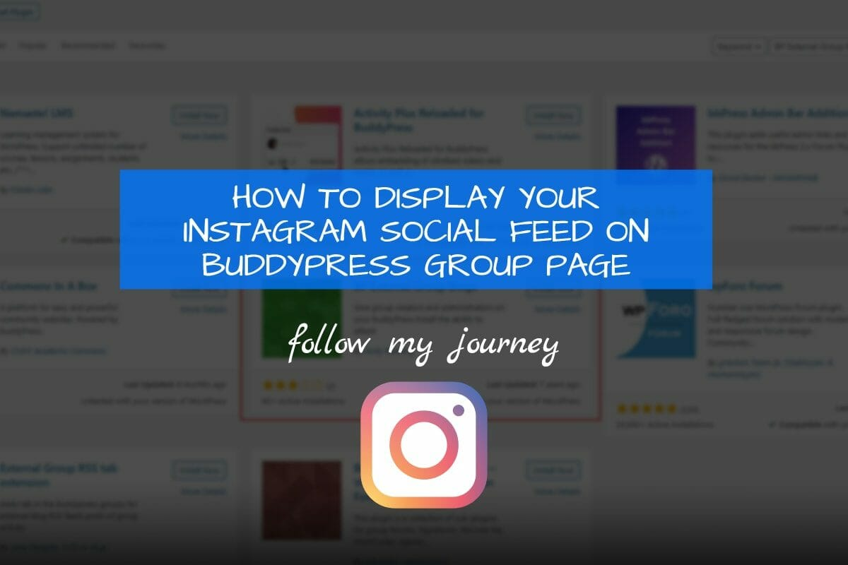 Marco Tran The Simple Entrepreneur HOW TO DISPLAY YOUR INSTAGRAM SOCIAL FEED ON BUDDYPRESS GROUP PAGE