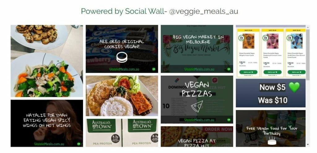 Veggie Meals Vegan Vegetarian Social Wall