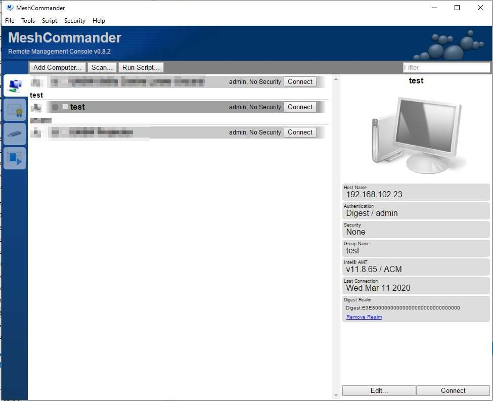 Marco Tran The Simple Entrepreneur Open Source Tool For Intel AMT Management Console MeshCommander dashboard