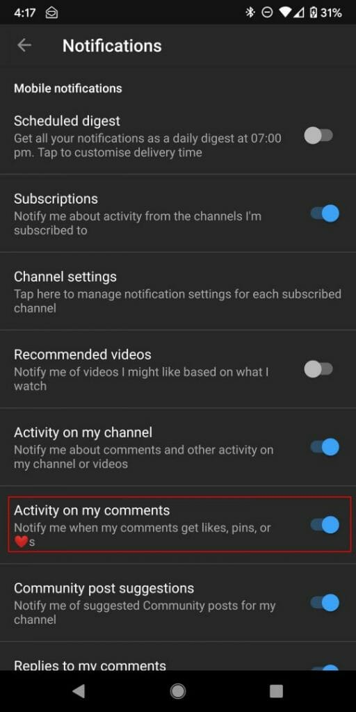 Marco Tran The Simple Entrepreneur HOW TO ENABLE COMMENT NOTIFICATIONS IN YOUTUBE Activity on my comments