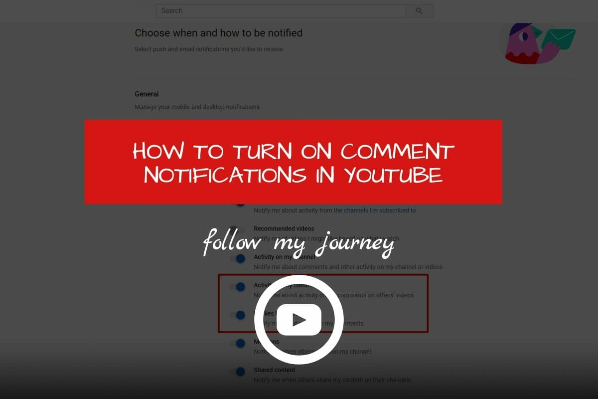 Marco Tran The Simple Entrepreneur HOW TO TURN ON COMMENT NOTIFICATIONS IN YOUTUBE