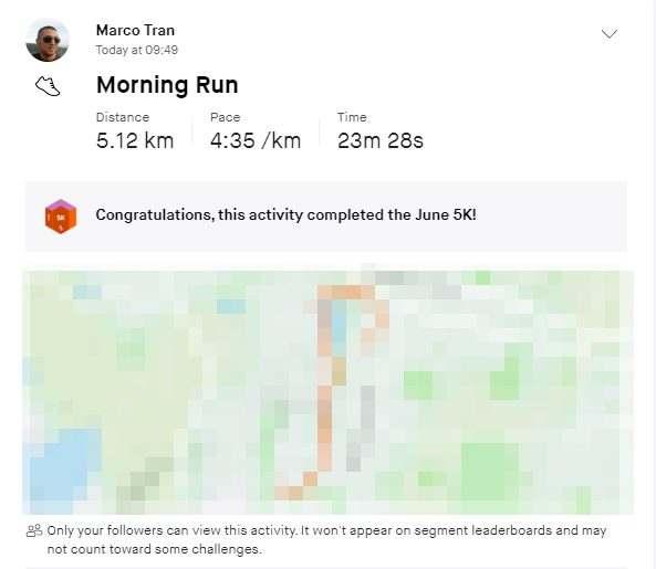 Marco Tran The Simple Entrepreneur Strava Tropies Not displaying Morning run