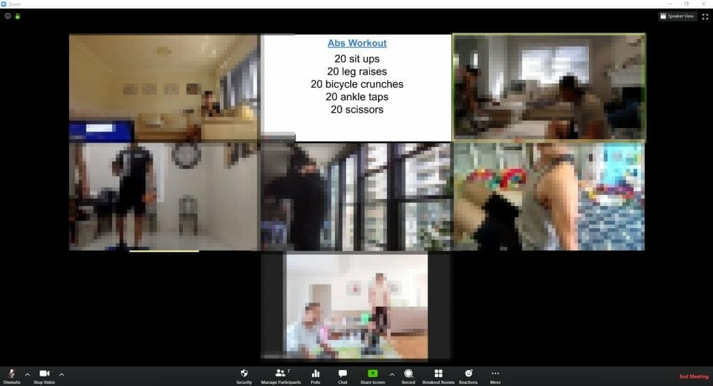 Marco Tran The Simple Entrepreneur Zoom Workouts Session Participants