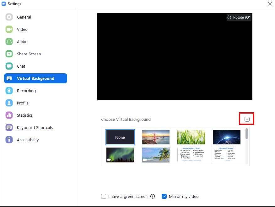 Marco Tran The Simple Entrepreneur Zoom Workouts Video Setting Choose Virtual Background