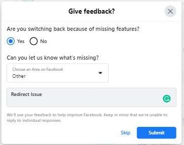 Facebook Too Many Redirects Switch To classic side menu Feedback The Simple Entrepreneur Marco Tran