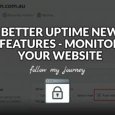BETTER UPTIME NEW FEATURES MONITOR YOUR WEBSITE THE SIMPLE ENTREPRENEUR header