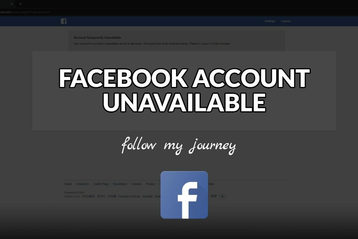 FACEBOOK ACCOUNT UNAVAILABLE The Simple Entreprenur header